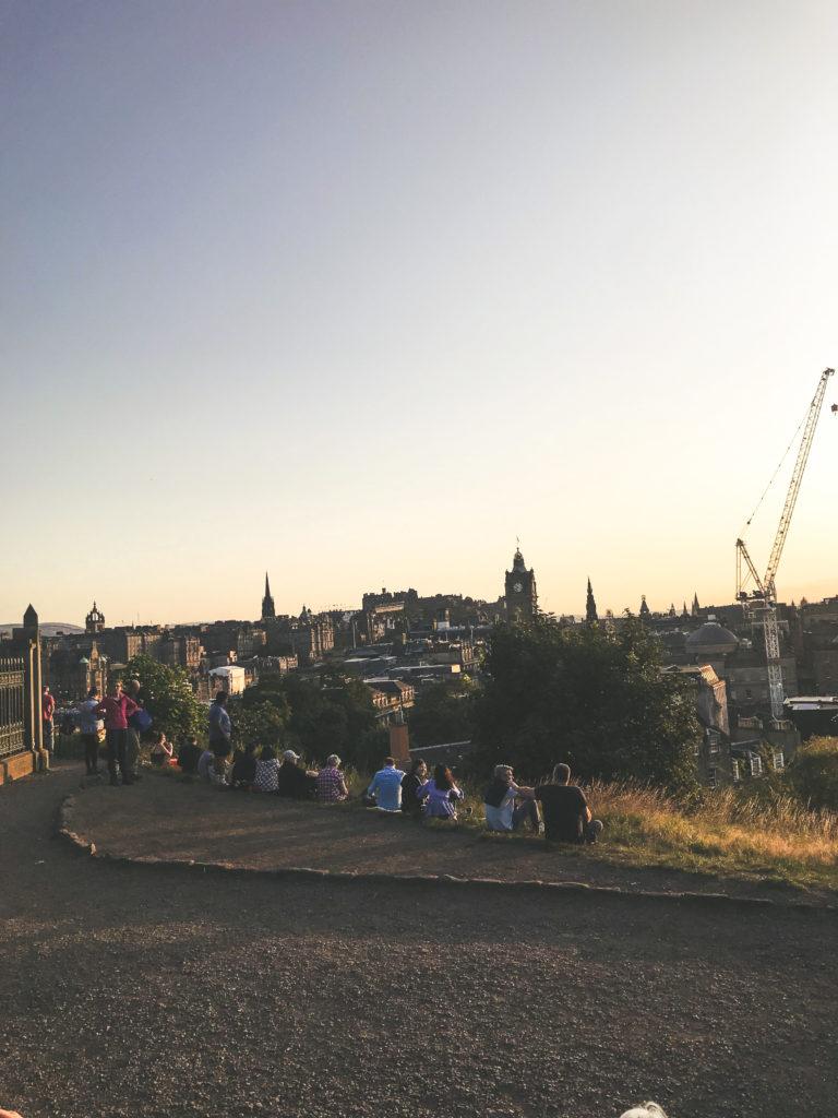 Coucher de soleil Calton Hill Édimbourg