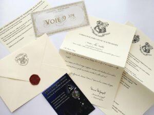 Lettre d'admission personnalisée à Poudlard
